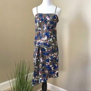 Rachel Roy Asymmetrical Floral Midi Slip Dress